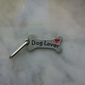 HOUSE PET ANIMAL 6 DOG BONE ZIPPER PULLS or PENDANT Dog Lovers w/Heart ALL NEW.