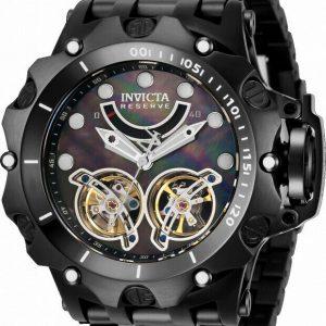 Invicta Men's 33554 Reserve Venom Automatic Multifunction Black Dial Watch