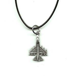 Jet Charm Pendant Necklace