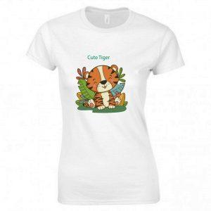KID'S t shirts cute tiger Kitten  tee fashion printed Ladies t shirts  0281