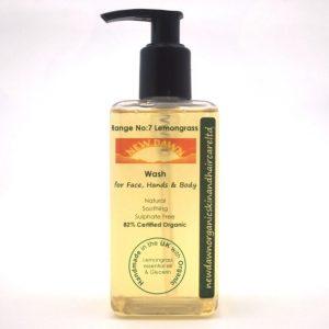 LEMONGRASS FACE, HAND & BODY WASH - New Dawn Organic Vegan Skin Care Products