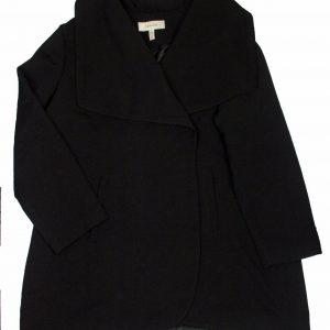 Lark & Ro Women's Fashion Single Button Lightweight Coat Jacket Black, Plus 2X