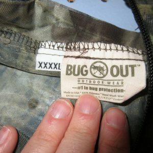 MENS Bug Out mesh outdoor wear advantage camo bug proof jacket full zip 4XL XXXX