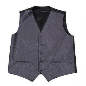 Men's Charcoal Paisley Tuxedo Vest Formals Weddings Proms Fashion Waistcoat