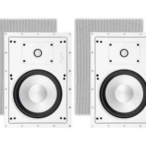 Monoprice 2-Way Architectural In-Wall Speakers - 8 Inch W/ MCC Tweeter (Pair)