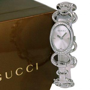 NEW GUCCI 118 Quartz Tornabuoni Oval Ladies Diamond Watch YA118505