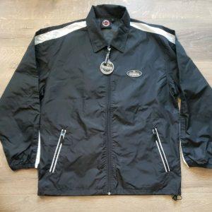 NWT Guinness Outdoor Wear Mens Black Training Jacket Windbreaker Size Large