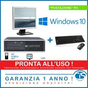 POSTAZIONE WINDOWS 10 PRONTO USO PC COMPUTER FISSO DESKTOP COMPLETA 4GB RAM !