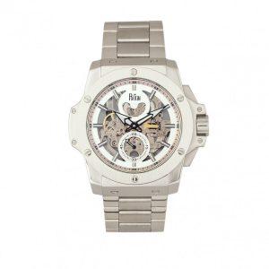 Reign Commodus Automatic Skeleton Dial Silver Bracelet Men's Watch RN4006