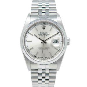 Rolex Datejust 36 Stainless Steel 16200 Wristwatch - Silver, Jubilee