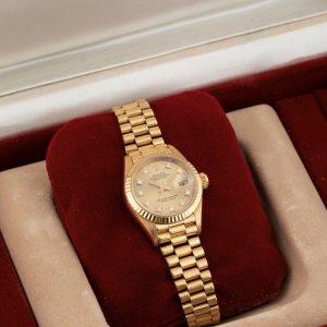 Rolex Lady DateJust 26 18k Oro Gold Orologio FULL SET