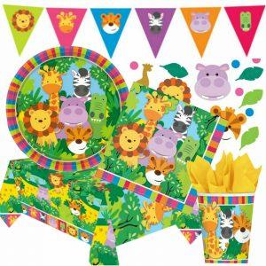 Safari ANIMALS JUNGLE FRIENDS Theme Birthday Party Supplies Tableware Decoration