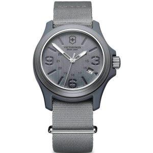 Victorinox Swiss Army Men's Watch Grey Dial Nylon Strap 241515 - Official Dealer