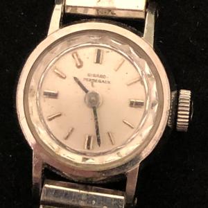 Vintage Girard-Perregaux Women's Watch Silver Case Mechanical Runs Ticks Swiss