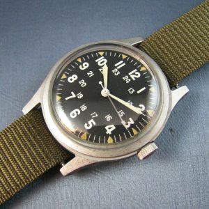 Vintage Hamilton Stainless Steel GG-W-113 US Military Mens Watch Vietnam 1969
