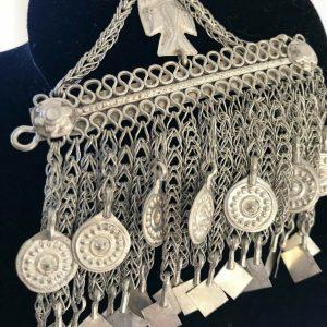 Vintage tribal afghan headdress hair jewelry