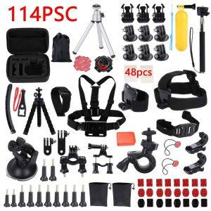 114X GoPro Accessories Set Hero5 4 3 Black 2 1 HD Action Camera Sport Kit Bundle