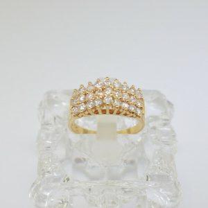 14k Diamond Ring. Size 6