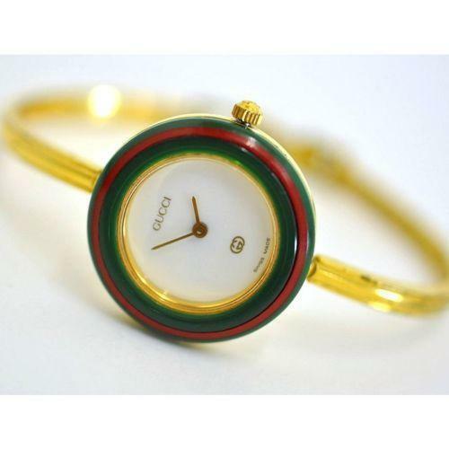 Authentic Gucci Watch PETITE SMALL Ladies Interchangeable Bezels 1100L 11/12.2
