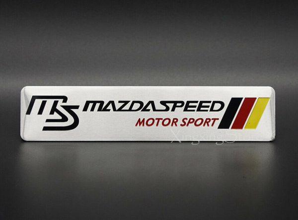 1Pcs Car Sticker for MS Mazda Sport Accessories Emblem Badge Decal Logo Aluminum