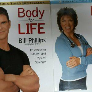 2 Body for life books-Body for life &Body for life for women-weightloss
