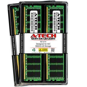 64GB 4x 16GB PC4-17000 ECC RDIMM Server Memory RAM for AIC SB202-LB Storage