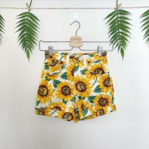 AMERICAN APPAREL Sunflower DENIM SHORTS Hotpants RARE Size W24/25 UK 6