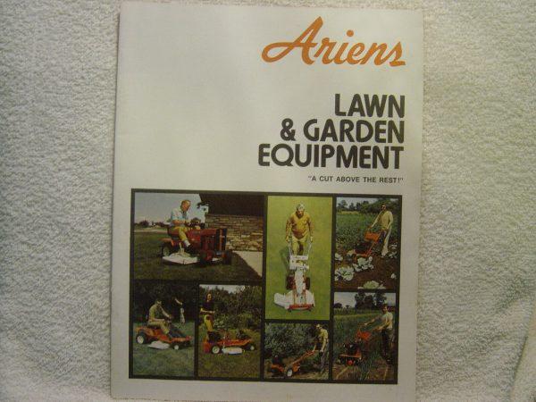 ARIENS LAWN & GARDEN EQUIPMENT full line  c 1972  sales brochure