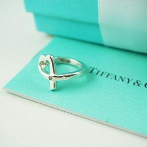 AUTHENTIC Tiffany & Co. Diamond Loving Heart Ring Size 5 (#F282)