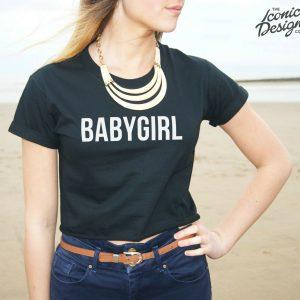 * BABYGIRL Crop Top Tee Fashion Slogan Fresh Swag Dope Gurl Baby Girl Shirt *