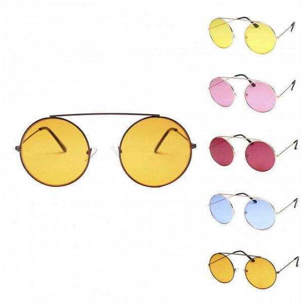 Big Large Round Hippie Fashion Retro Lennon Ladies sunglasses