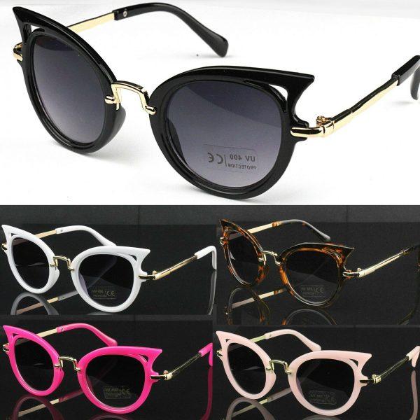 Children Girls Luxury Designer Fashion Sunglasses 100% UV400 Protection
