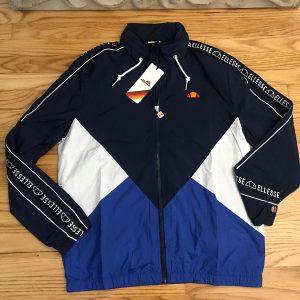 Ellesse Lapaccio Jacket Mens Navy Color Block Active Outdoor Wear Sz 2XL NVY