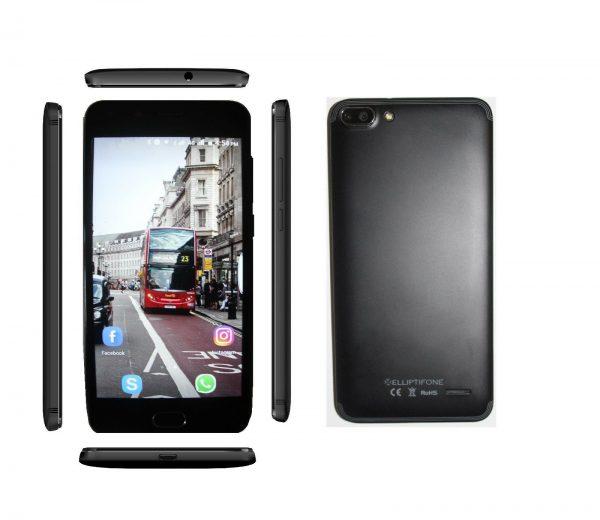 "Elliptifone Smartphones,DualSim,4G,1GB RAM +8GB memory,5"",Android6,BLACK"