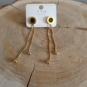 Gold Necklace celebrity STAINLESS STEEL - Celebrytka kolczyki