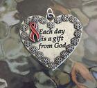 HEALTH 1 Heart AIDS Awareness Red Ribbon Pendant New.