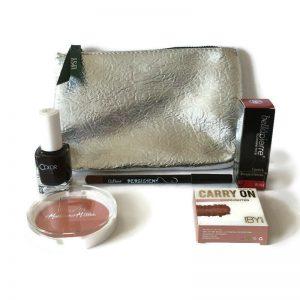 Ipsy Glam Bag w 5 Makeup Products - Nail, Lip, Blush, Highlighter
