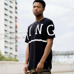 King Apparel Leyton T-shirt - Black - S [NEW]