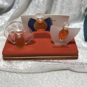 LALIQUE MINIATURE PERFUMES set Les Introuvables 1998,1999, 2000 LES FLACONS