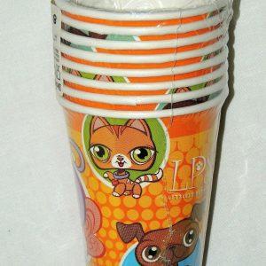 LITTLEST PET SHOP ~8- PAPER CUPS 9 oz.-    PARTY SUPPLIES