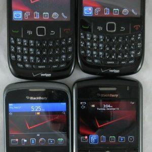 LOT X 4 VERIZON BlackBerry Cell Phones - Curve 8530 9330 9630 (Tour) Smartphone