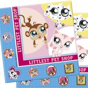 Littlest Pet Shop Party Supplies, napkins, plates, loot bags, Banners