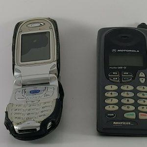 Lot of 2 Vintage Used Cell Phones (1 LG Flip), 1 Motorola Profile 300. Untested
