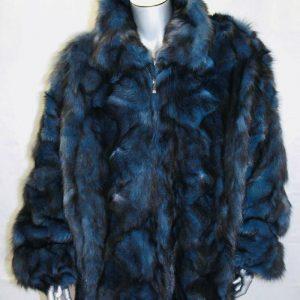 Men's Davoucci Blue   Black Dyed Fashion Fox Size 4XL