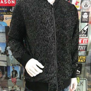 Men's Fashion Black | Silver  Jacket