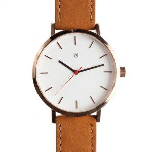 Mens Fashion Genuine Leather Wrist Watch