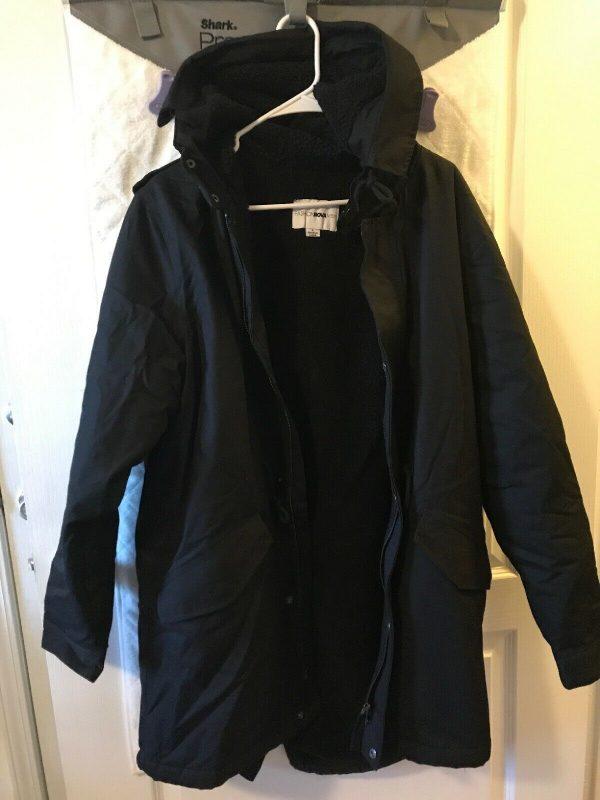 Men's Fashion Nova Midweight Hooded Winter Jacket Lined Coat 🧥- LARGE