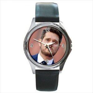 Michael Buble  leather strap  watch  /wristwatch