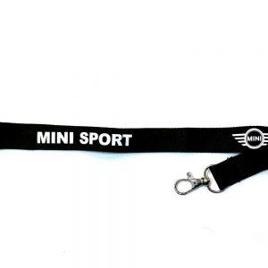 Mini Sport Black Lanyard Neck Strap ID Card Keyring Pass Mobile Accessories