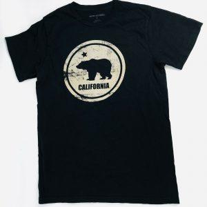 Motif Apparel California Flag Symbol Bear Unisex Small Graphic T Shirt Black